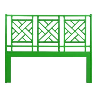 Chippendale Headboard Queen - Bright Green For Sale