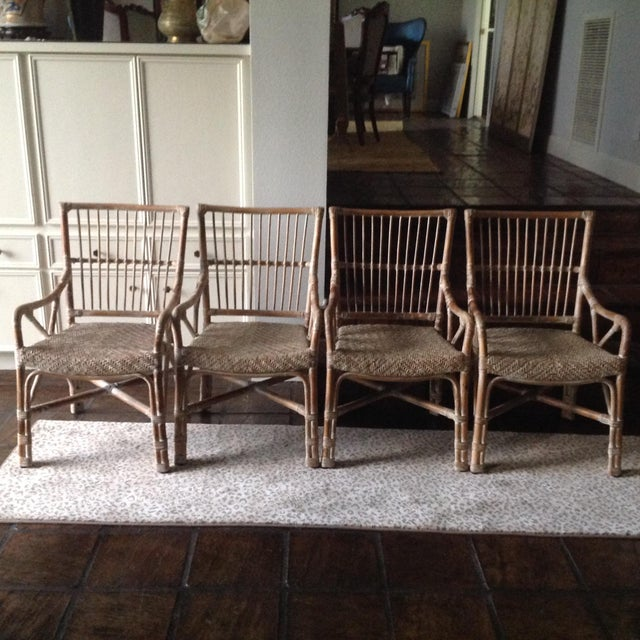 Rattan Dining Chairs - Set of 4 - Image 2 of 7