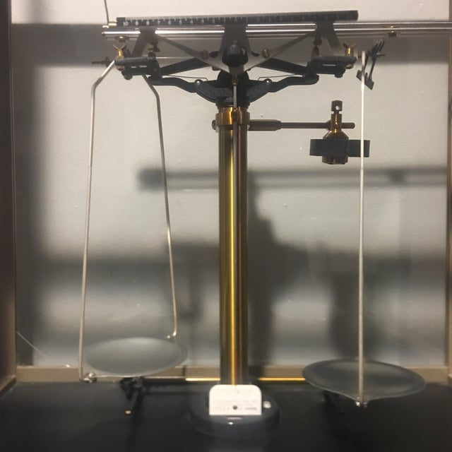 English Antique Ainsworth Analytical Balance Scale - Circa 1930's For Sale - Image 3 of 13