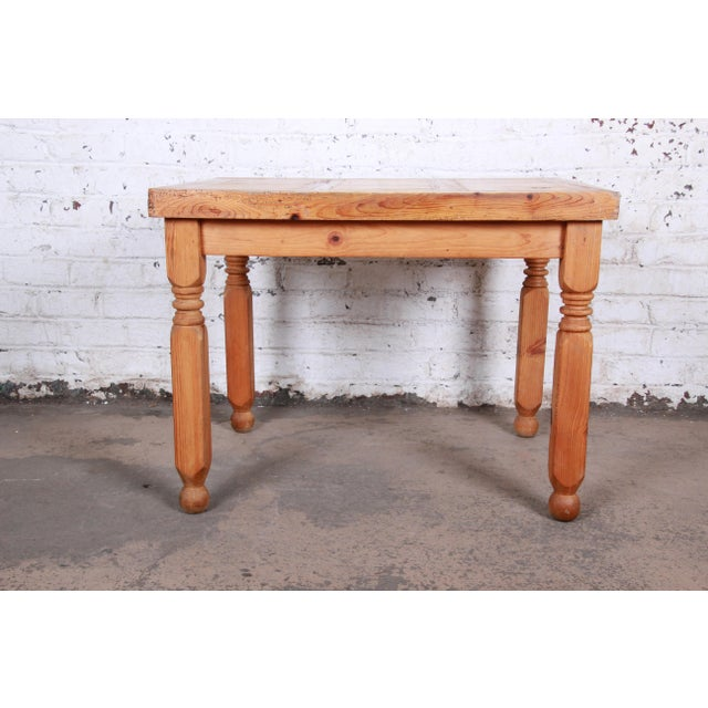 Vintage Rustic Solid Pine Writing Desk For Sale - Image 10 of 11