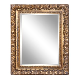 Antique Gold Beveled Mirror For Sale