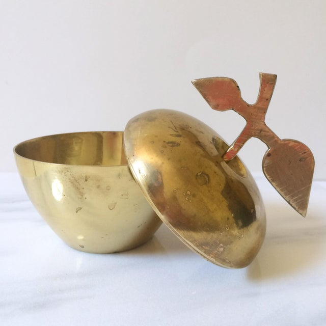 Brass Apple Lidded Container - Image 4 of 4