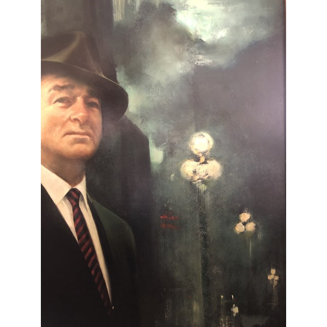 XL Portrait by M Runci Dated 1965 For Sale - Image 4 of 9