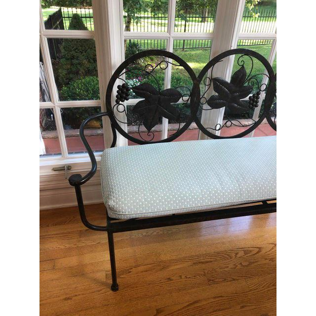 Late 20th Century Heavy Iron Bench by Maitland Smith For Sale In Chicago - Image 6 of 11