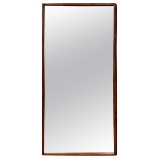 t.h. Robsjohn-Gibbings Style Maple Framed Wall Mirror For Sale