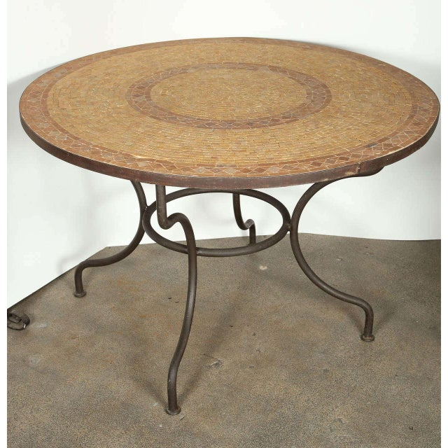Brown Moroccan Marble and Stone Mosaic Table Indoor or Outdoor For Sale - Image 8 of 10