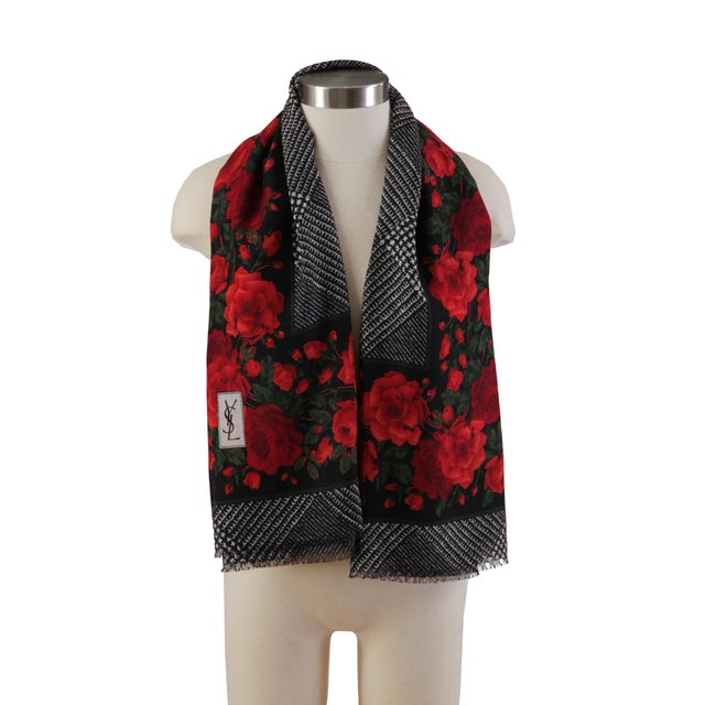 d5f8c543 Yves Saint Laurent Vintage Yves St. Laurent Over-Sized Wool Scarf For Sale -