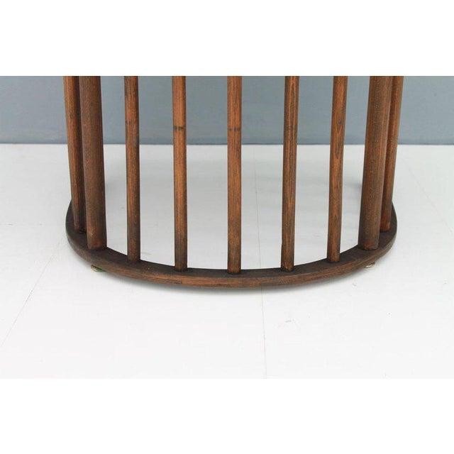 Brown Early Josef Hoffmann Barrel Chair Jacob & Josef Kohn Austria, 1880 For Sale - Image 8 of 12
