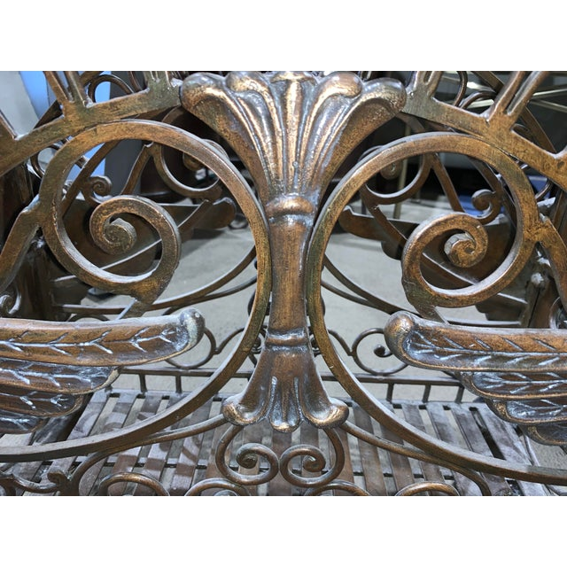 French 1960s Regency Style Bronzed Magazine Rack With Scrolled Design Lion Supports For Sale - Image 3 of 11