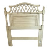Image of 20th Century Hollywood Regency Thomasville Allegro Pagoda Faux Bamboo Twin Headboard For Sale