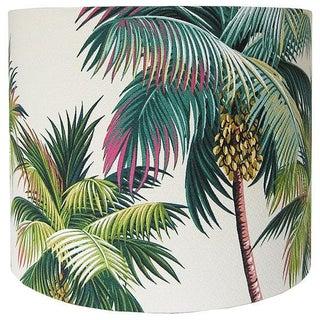 Hawaiian Bark Crepe Tropical Drum lampshade Preview
