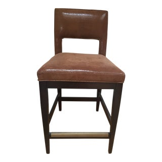 Kravet Berlin Barstool With High End Kravet Leather/Suede Combo Upholstery For Sale