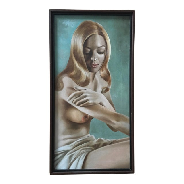 Nude Oil Painting by Lynn Lupetti, 1970s For Sale