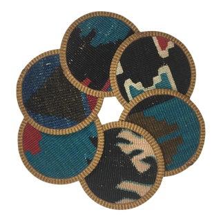 Rug & Relic Kilim Coasters Set of 6   Yavuz