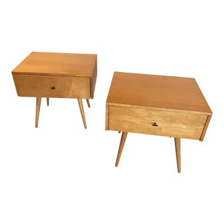 Paul McCobb Planner Group Single Drawer Nightstands - a Pair