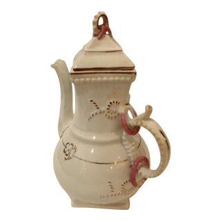 Tall Vintage Porcelain Tea / Coffee Pot For Sale