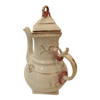 Tall Vintage Porcelain Tea / Coffee Pot