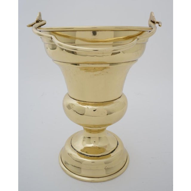 Victorian Antique 19c Coal Scuttle Polished Brass for Firewood Holder For Sale - Image 3 of 13