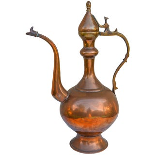 Antique Handmade Copper Pitcher For Sale