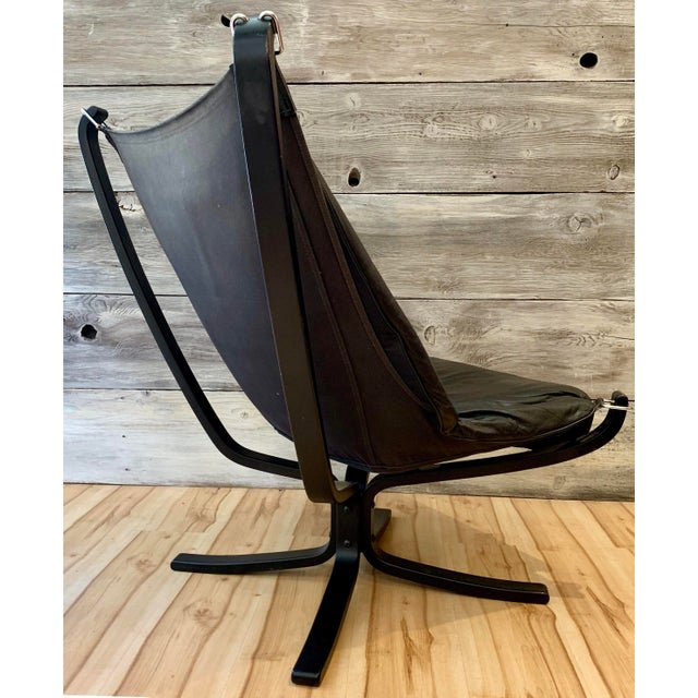 1960s 1960s Sigurd Ressell Highback Falcon Lounge Chairs - a Pair For Sale - Image 5 of 13