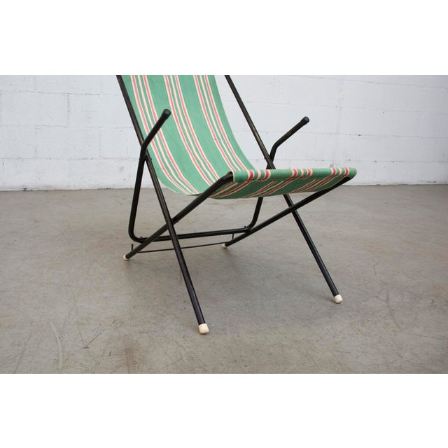 Vintage Pilastro Style Beach Sling Chair - Image 9 of 10