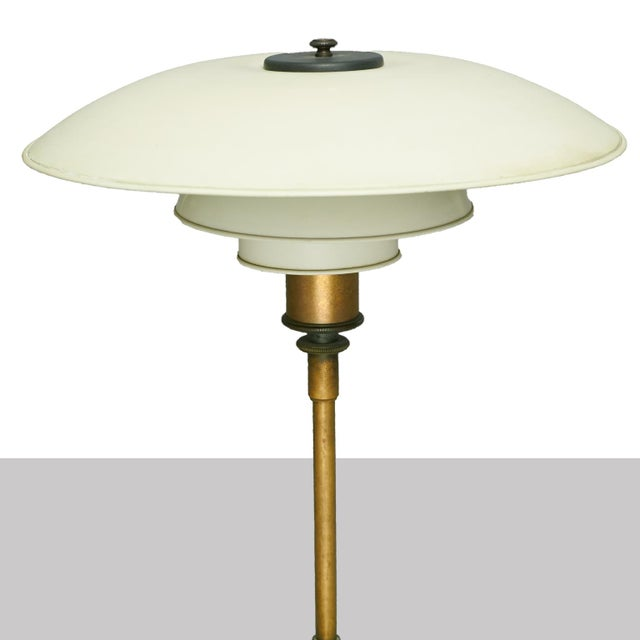 """Mid-Century Modern Poul Henningsen PH4/3 Table Lamp, Stampled """"Pat. Appl"""" For Sale - Image 3 of 5"""