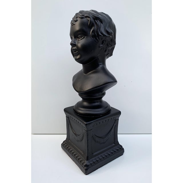 Portraiture 1970s Vintage Ceramic Head Bust of a Boy Sculpture For Sale - Image 3 of 7