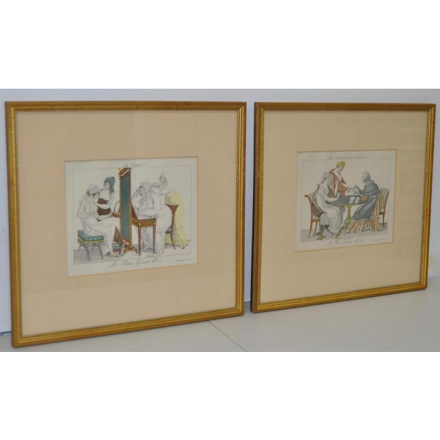 French Hand Colored Engravings - A Pair - Image 3 of 8