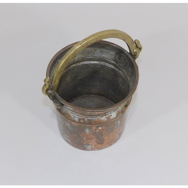 Primitive brass metal bucket wedding card box holder. Industrial vintage basin pail pPlanter with trough handle. In the...