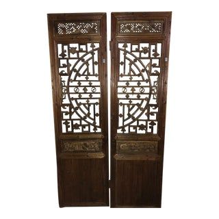 Antique Chinese Doors - A Pair For Sale