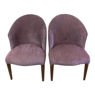 Pair Purple Donghia Chairs For Sale