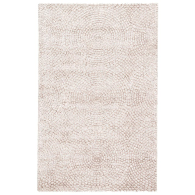 2010s Pollack by Jaipur Living Impresario Handmade Medallion Ivory / Tan Area Rug - 9′ × 12′ For Sale - Image 5 of 5