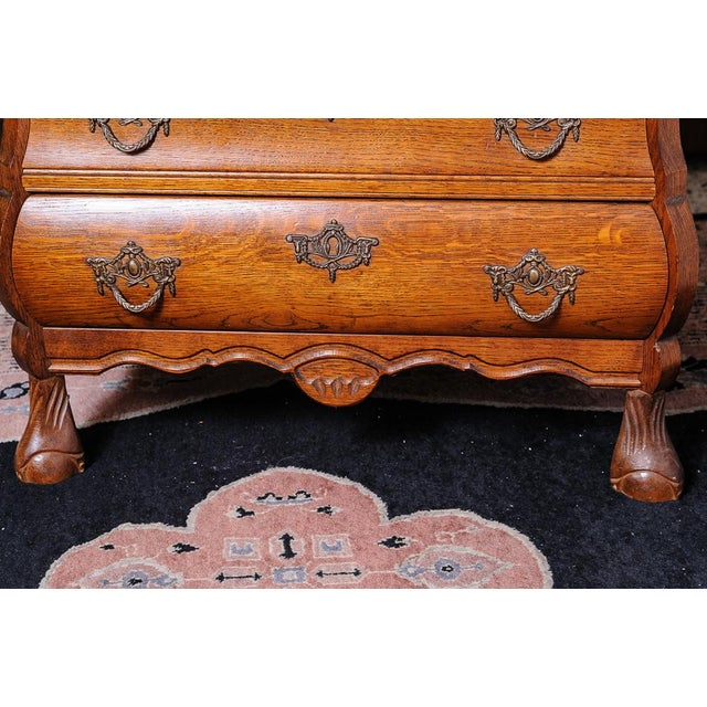 Shabby Chic Dutch bombe chest For Sale - Image 3 of 9
