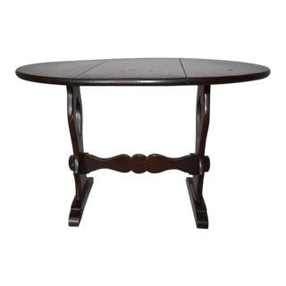 English Drop Leaf Side Table For Sale