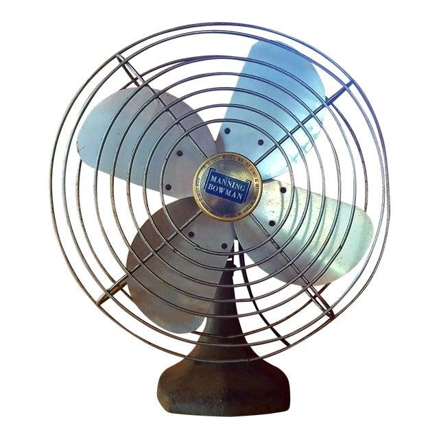 Vintage Manning Bowman Industrial Fan For Sale