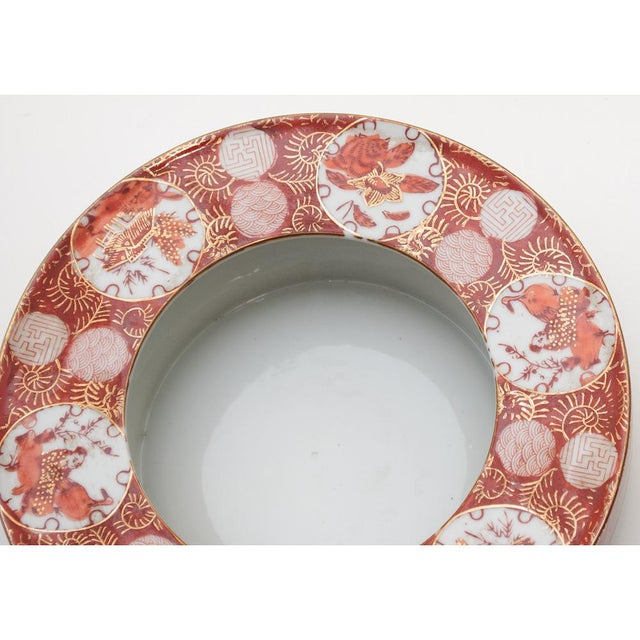 Persimmon 1950s Vintage Japanese Yashimamaru Bowl For Sale - Image 8 of 13