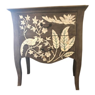 Anthropologie Nightstand With Decorative Inlay For Sale