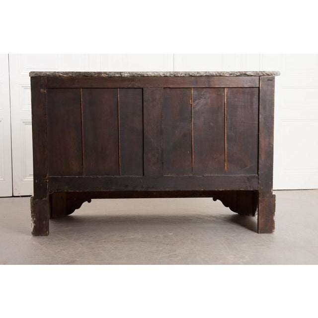 French 19th Century Painted Commode With Marble Top For Sale - Image 11 of 12