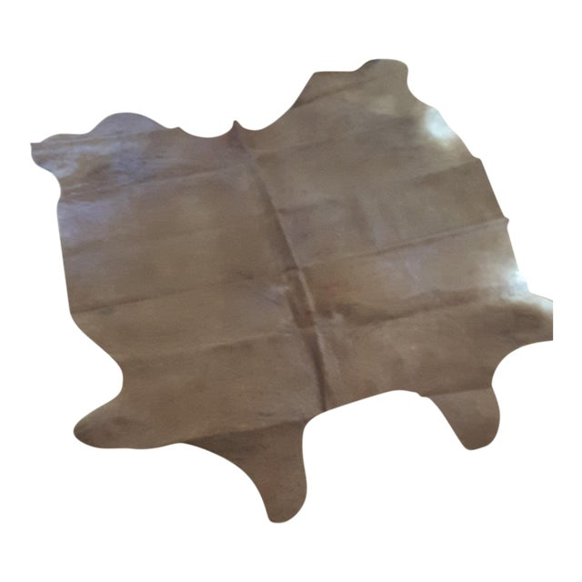 Argentinian Tan Cowhide Leather Rug - 5' x 7' - Image 1 of 5