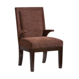 O.Henry House Transitional Brown Armchair For Sale