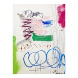 Image of Lesley Grainger 'Out Riding My Bike' Original Abstract Painting For Sale