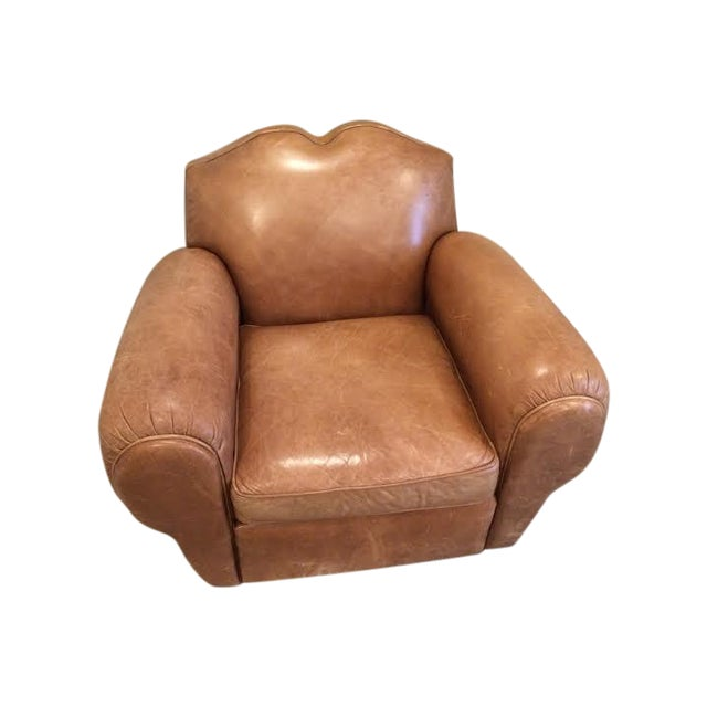 Centrum Modern Leather Club Chair - Image 1 of 5