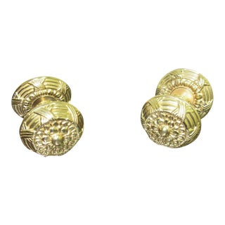 Vintage Solid Brass French Regency Drawer Pulls - A Pair