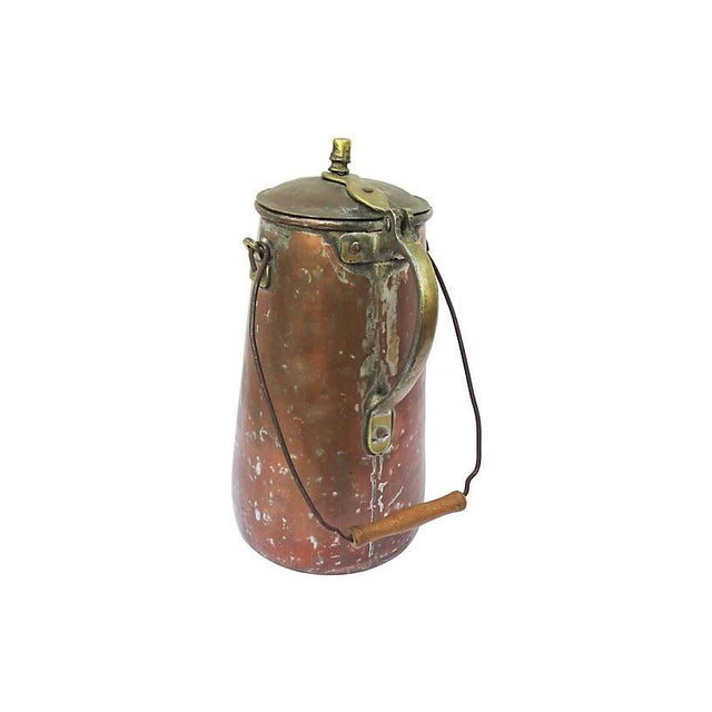 French 19th-C. French Copper Coffeepot For Sale - Image 3 of 6