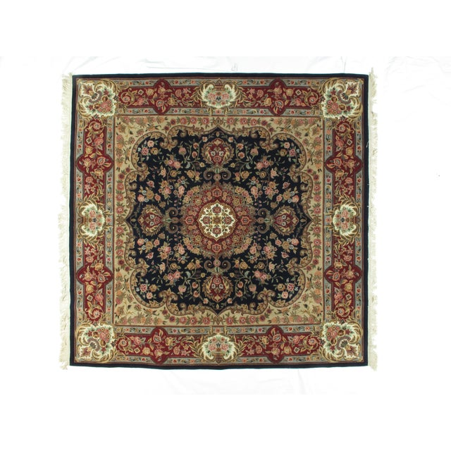 Square Sino Persian Carpet - 8′ × 8′1″ - Image 3 of 8