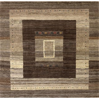 Persian Tribal Gabbeh Rug- 6′5″ × 6′8″ For Sale