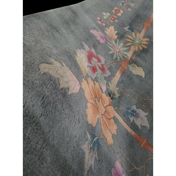 "Antique Chinese Art Deco Rug 8'10"" X 11'8"" For Sale - Image 9 of 12"