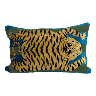 Schumacher Fabric Custom Pillow Lumbar For Sale