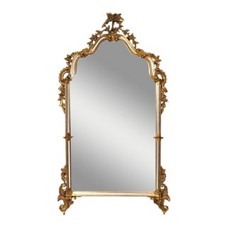 Antique Labarge Style Gilt Mirror For Sale