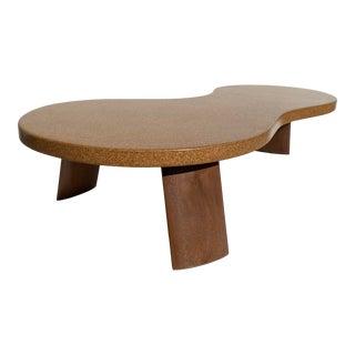 "Postmodern ""Bigfoot"" Cork Coffee Table Small Size For Sale"